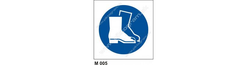 Príkaz na ochranu nôh - PO a BOZP značenie