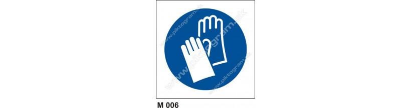 Príkaz na ochranu rúk - piktogram, bezpečnostné značenie