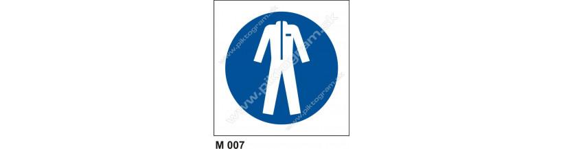 Príkaz na nosenie ochranného odevu - bezpečnostné značenie
