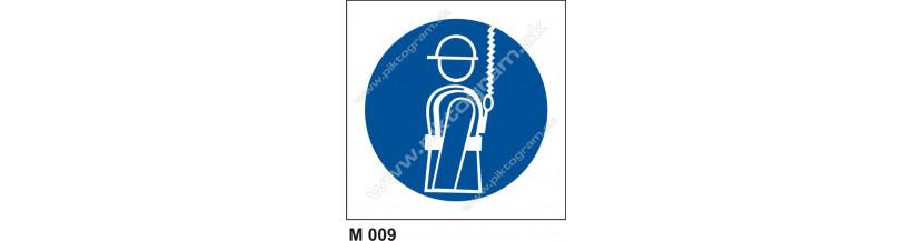 Príkaz na použitie bezpečnostného závesného systému - bezpečnostné značenie, piktogram