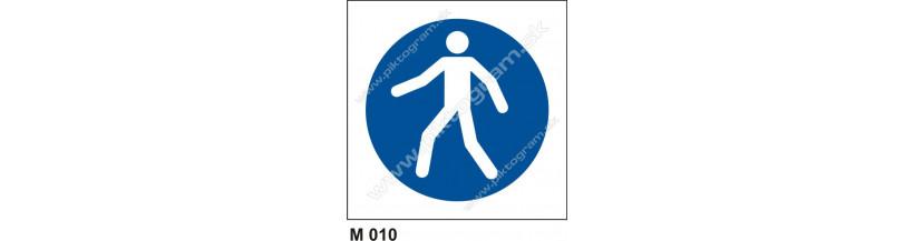 Cesta vyhradená pre chodcov -  bezpečnostné značenie, piktogram, BOZP a PO