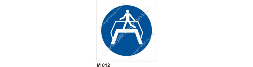 Príkaz na použitie nadchodu - bezpečnostné značenie