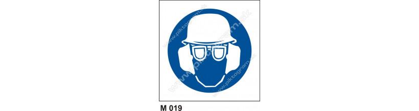 Úprava: Príkaz na ochranu hlavy, zraku a sluchu - bezpečnostne značenie PO a BOZPO