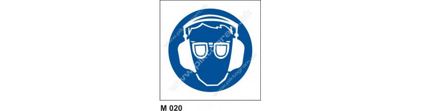 Príkaz na ochranu zraku a sluchu - bezpečnostné značenie