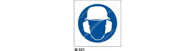 Príkaz na ochranu hlavy a sluchu - bezpečnostné PO a BOZP značenie