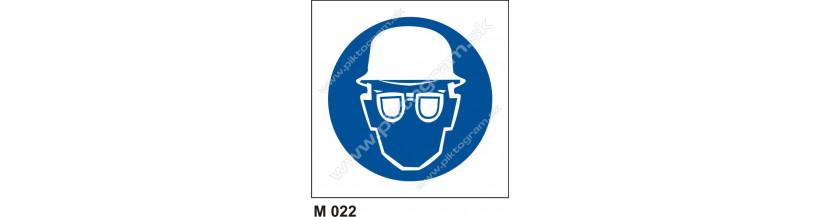 Príkaz na ochranu hlavy a zraku - bezpečnostné značenie