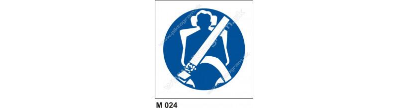 Príkaz na použitie ochranných pásov - bezpečnostné značenie
