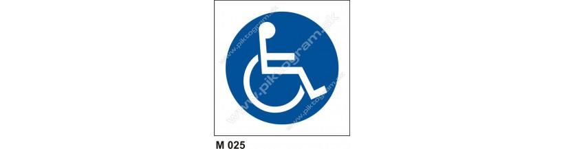 Cesta vyhradená pre užívateľov invalidných vozíkov - bezpečnostné značenie