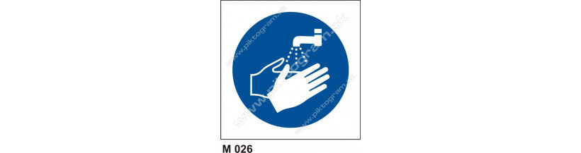 Príkaz na umytie rúk - PO a BOZP označenie pracoviska.