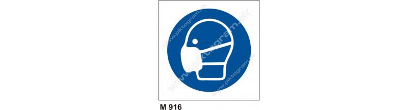 Príkaz na používanie ochranného rúška - bezpečnostné značenie, piktogram