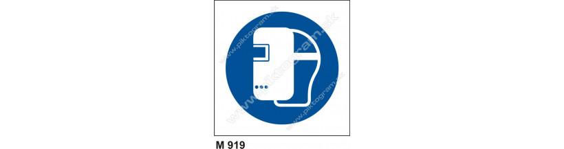 Príkaz na používanie zváracej masky - PO a BOZP značenie