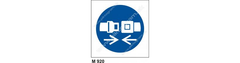 Príkaz na používanie ochranných pásov - bezpečnostné značenie, piktogram