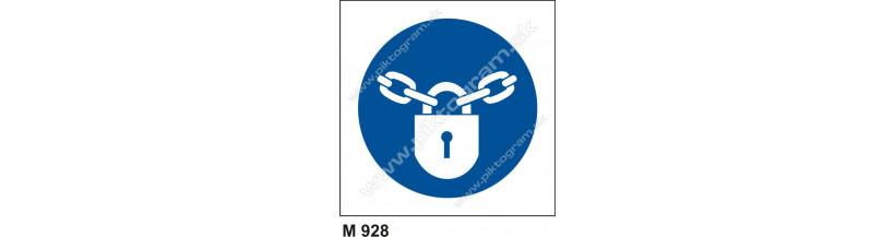 Príkaz na zabezpečenie proti neoprávnenej manipulácii - bezpečnostné značenie