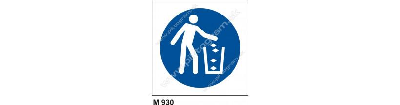 Príkaz na udržiavanie čistoty a poriadku - PO a BOZP značenie, piktogram