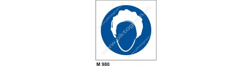 Príkaz na používanie pokrývky hlavy - PO a BOZP značenie, piktogram