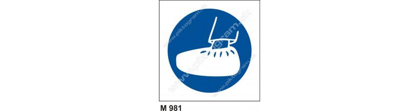 Príkaz na používanie prezúvok - bezpečnostné značky