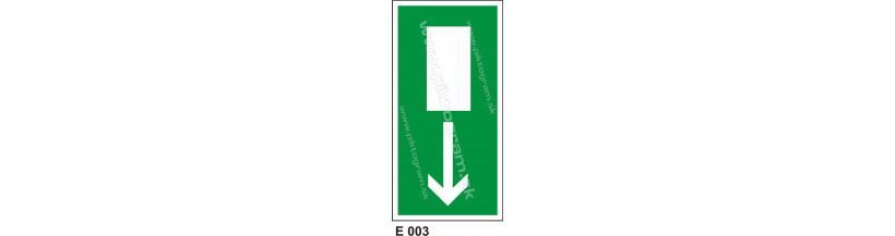 Úniková cesta - únikový východ (E 002) - značenie BOZP a PO