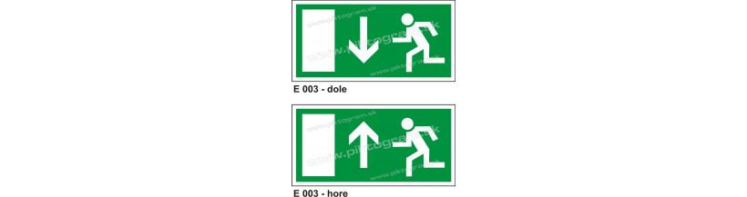 Úniková cesta - únikový východ (E 003)