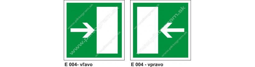 Úniková cesta - únikový východ (E 004) - bezpečnostné označenie