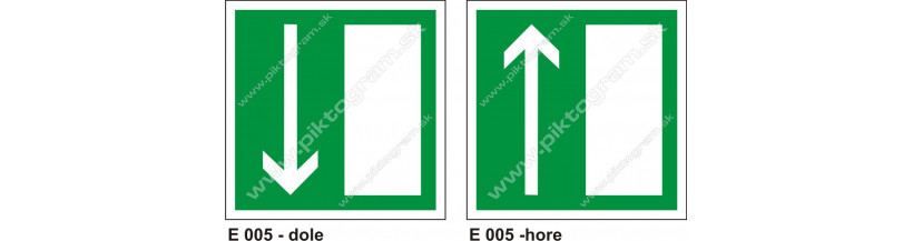 Úniková cesta - únikový východ (E 005) - piktogram PO a BOZP