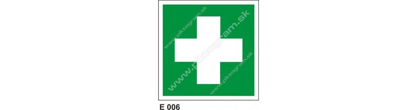 Miesto prvej pomoci - piktogram PO a BOZPO