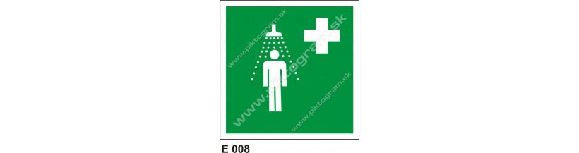 Bezpečnostná sprcha - BOZP označenie