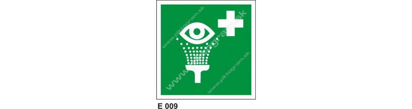 Vymývanie očí - bezpečnostné značenie