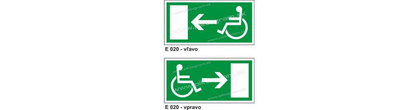 Úniková cesta - únikový východ pre zdravotne postihnutých - piktogram