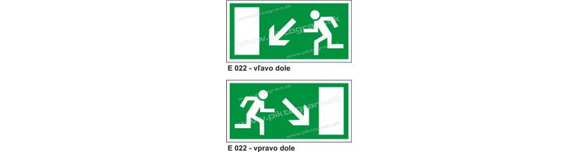 Úniková cesta - únikový východ - bezpečnostné značenie