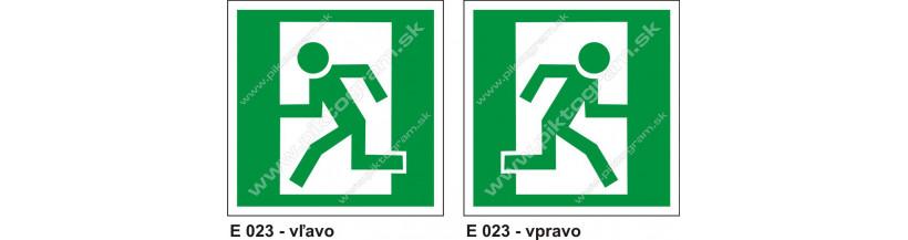 Úniková cesta - únikový východ - piktogram