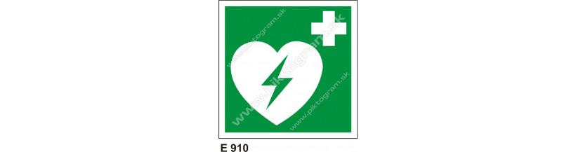 Automatický externý defibrilátor srdca - piktogram