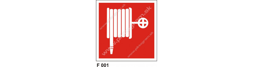 Požiarna hadica - bezpečnostné značenie BOZP