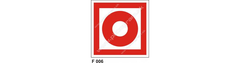 Tlačidlový hlásič požiaru - bezpečnostné označenie