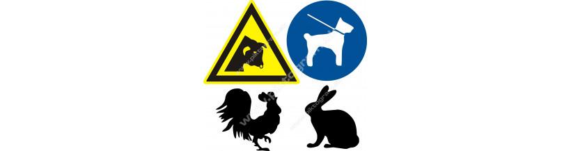 Bezpečnostné značenie - zvieratá