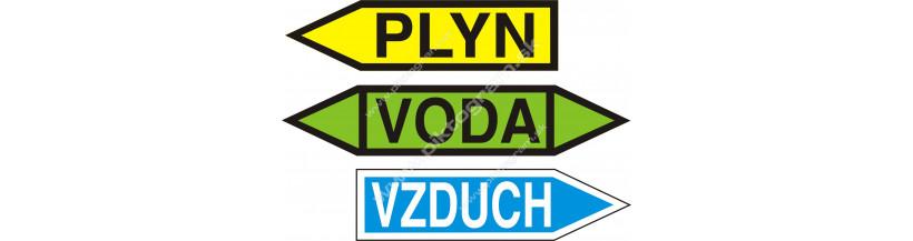Označovanie potrubí - šípky na potrubia