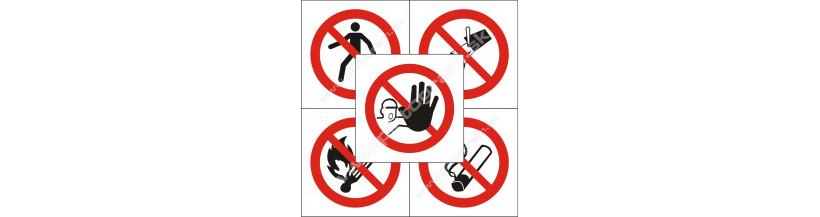 Zákazové značenie - samolepky a plastpvé tabuľky