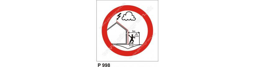 Zákaz zdržiavať sa pri zvodoch počas búrky!