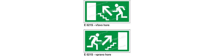 Úniková cesta - únikový východ nahor po schodoch