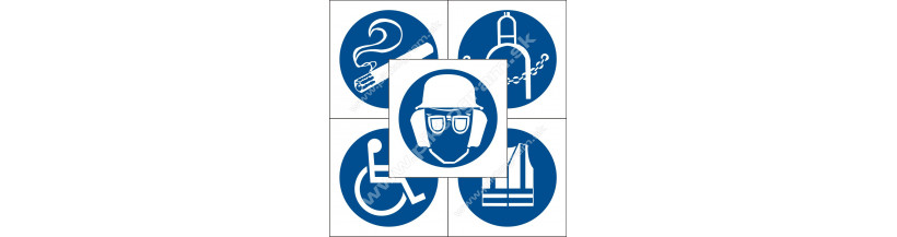 Príkazové značenie - bezpečnostné značky