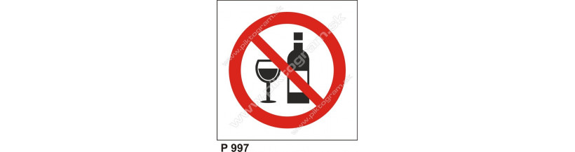 Zákaz požívania alkoholu - označenie BOZP a OPP