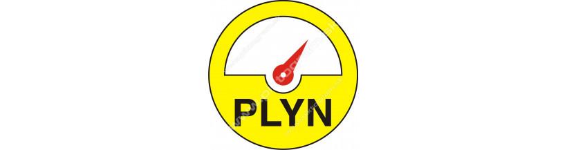 Plynárske bezpečnostné značenie.