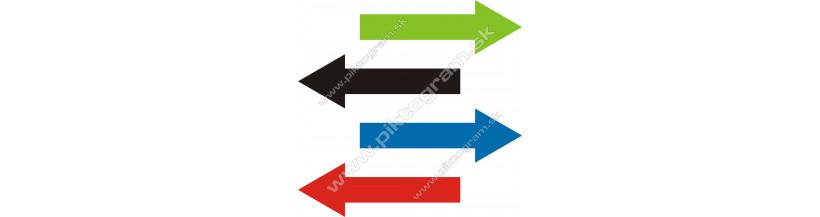 Označenie potrubí  - šípka smeru toku
