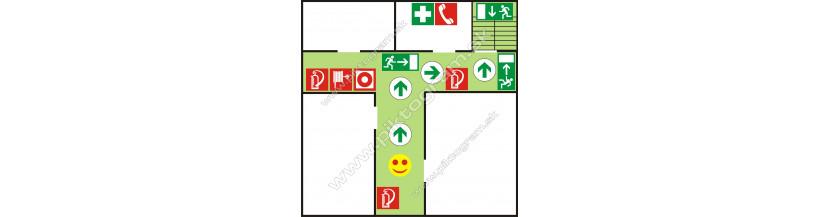 Mini - piktogramy pre požiarny evakuačný plán