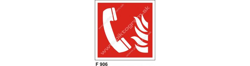 Ohlasovňa požiaru - piktogram podľa normy ISO 7010