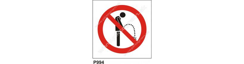 Zákaz močenia značisťovania piktogram, bezpečnostná značka