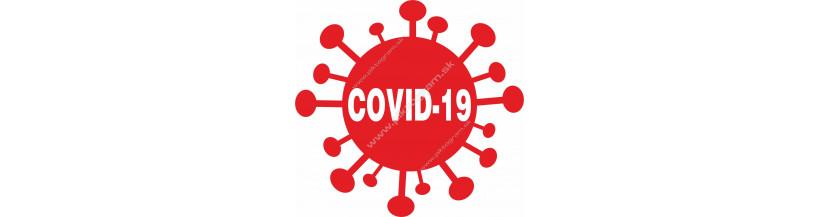 Bezpečnostné značenie na zabránenie šírenia  Koronavíru COVID-19