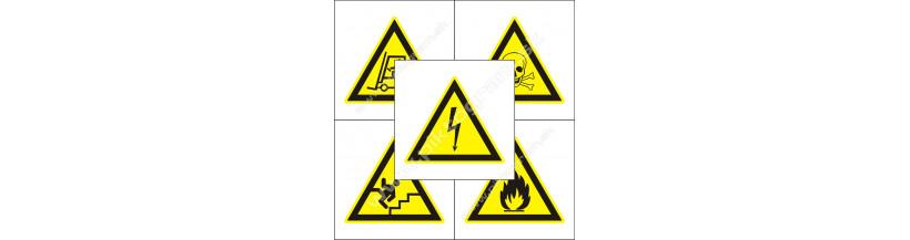 Výstražné značenie - samolepiace a plastové značky