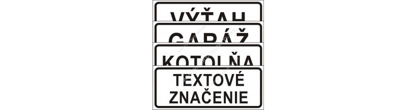 Textové bezpečnostné značenie
