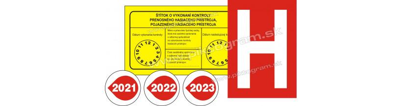 Revízne štítky a označenia hydrantov - bezpečnostné samolepky