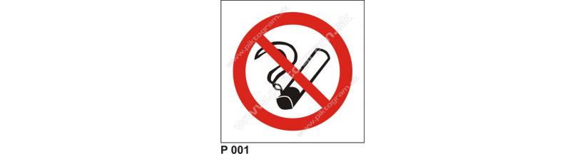 Zákaz fajčiť - bezpečnostné značenia